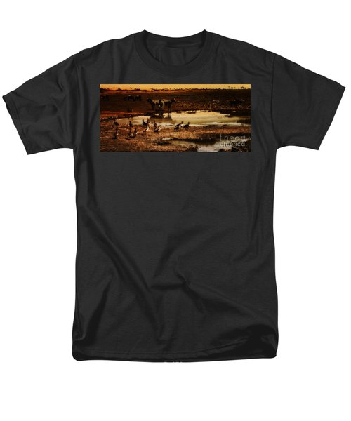 Men's T-Shirt  (Regular Fit) featuring the photograph Around The Pond by Lydia Holly