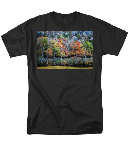 Men's T-Shirt  (Regular Fit) featuring the photograph Autumn At Beaver's Bend by Tamyra Ayles