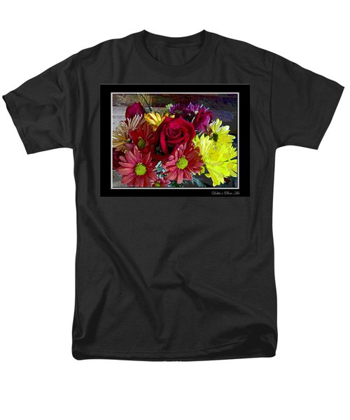 Men's T-Shirt  (Regular Fit) featuring the digital art Autumn Boquet by Debbie Portwood