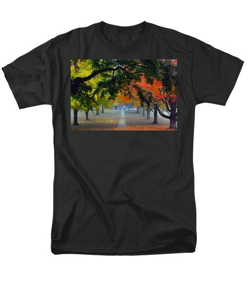 Autumn Canopy Men's T-Shirt  (Regular Fit) by Lisa Phillips