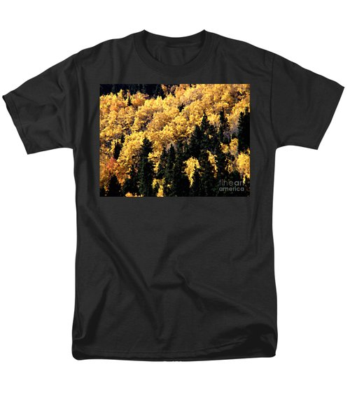 Autumn In Colorado Painting Men's T-Shirt  (Regular Fit) by Donna Greene