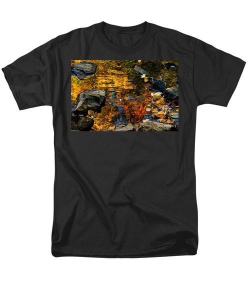 Men's T-Shirt  (Regular Fit) featuring the photograph Autumn Reflections by Cheryl Baxter