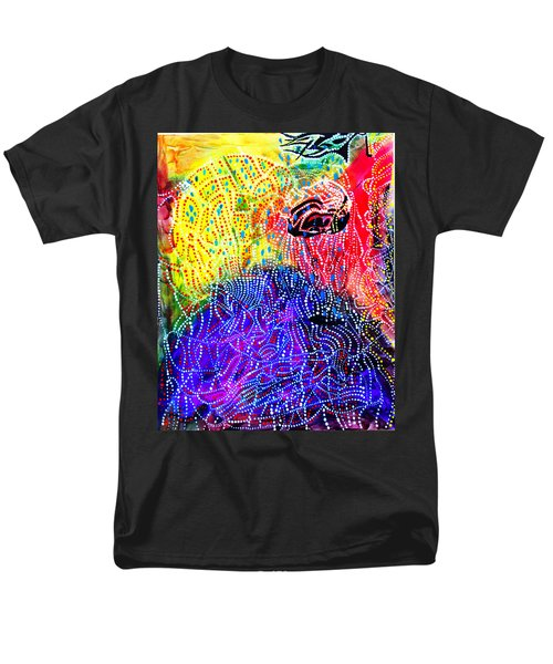 Men's T-Shirt  (Regular Fit) featuring the painting Baptism Of The Lord Jesus by Gloria Ssali