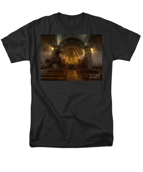 Baroque Church In Savoire France Men's T-Shirt  (Regular Fit) by Clare Bambers