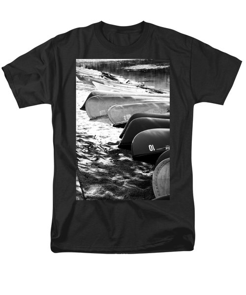 Men's T-Shirt  (Regular Fit) featuring the photograph Beached Kayaks by Julia Wilcox