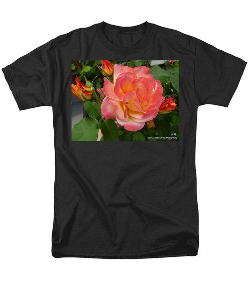 Men's T-Shirt  (Regular Fit) featuring the photograph Beautiful Rose With Buds by Lingfai Leung