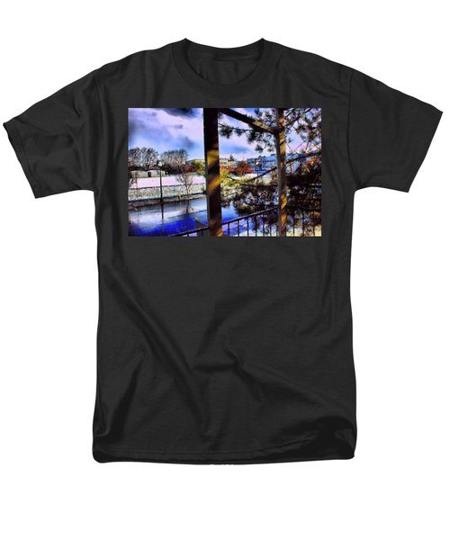 Men's T-Shirt  (Regular Fit) featuring the mixed media Beaverton  H.s. Winter 2011 by Terence Morrissey