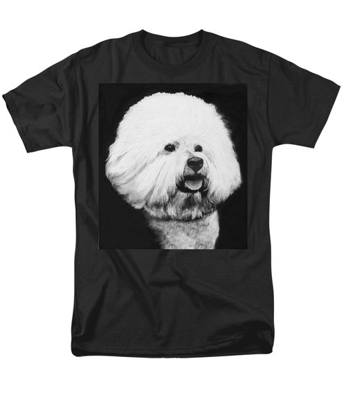 Men's T-Shirt  (Regular Fit) featuring the drawing Bichon Frise by Rachel Hames