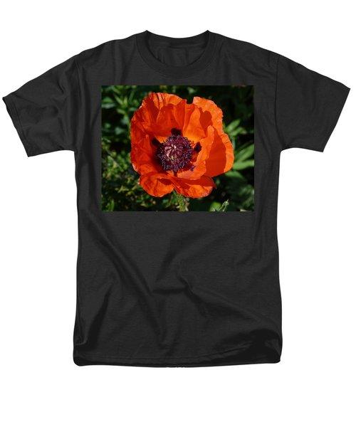 Men's T-Shirt  (Regular Fit) featuring the photograph Big Red Poppy by Lynn Bolt