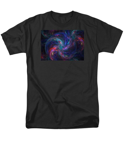 Men's T-Shirt  (Regular Fit) featuring the digital art Birth Of A Galaxy by Ann Peck
