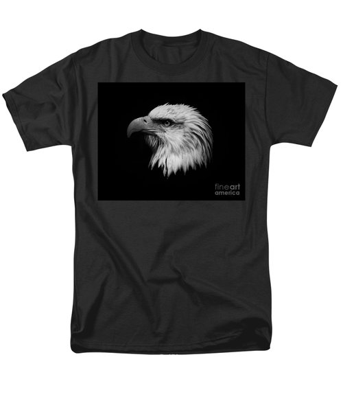 Men's T-Shirt  (Regular Fit) featuring the photograph Black And White Eagle by Steve McKinzie
