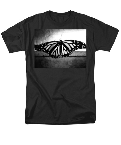 Men's T-Shirt  (Regular Fit) featuring the photograph Black Butterfly by Julia Wilcox