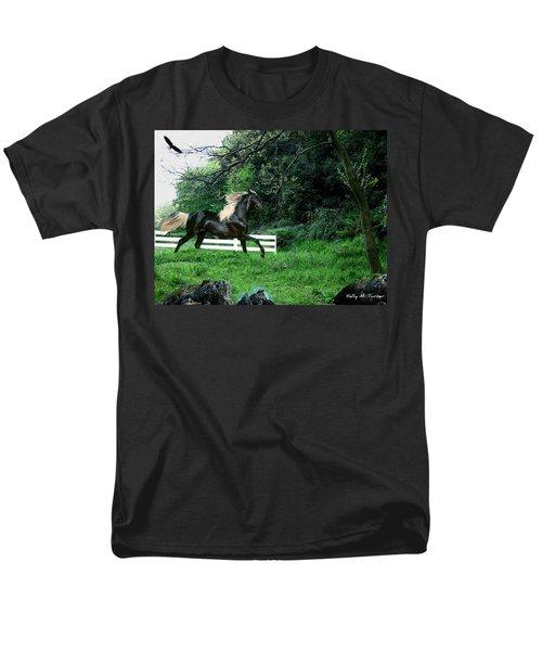 Black Stallion Men's T-Shirt  (Regular Fit) by Kelly Turner
