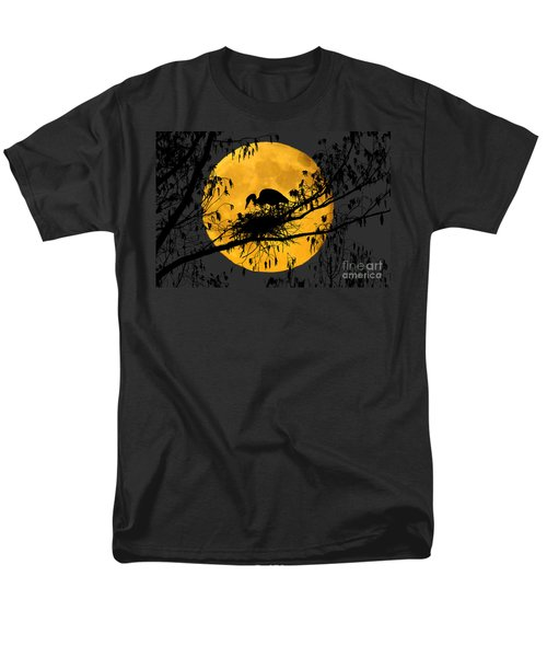Men's T-Shirt  (Regular Fit) featuring the photograph Blue Heron On Roost by Dan Friend