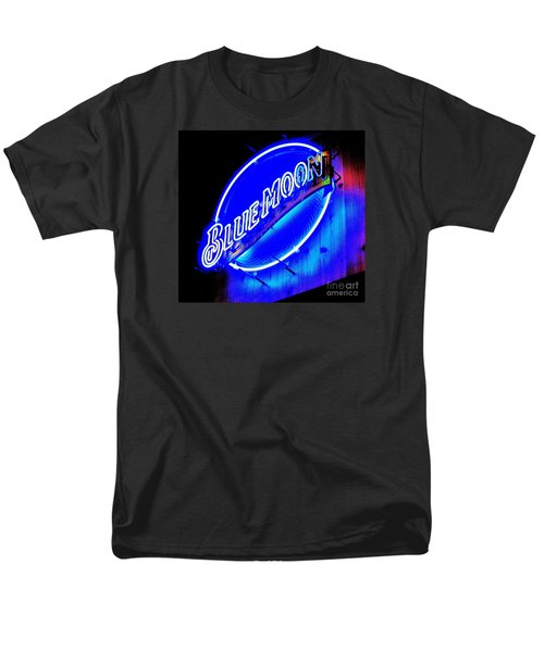 Blue Moo Neon Blue Horseshoe Men's T-Shirt  (Regular Fit) by John King