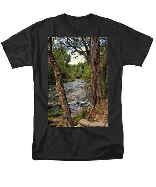 Men's T-Shirt  (Regular Fit) featuring the photograph Blue Spring Branch by Marty Koch