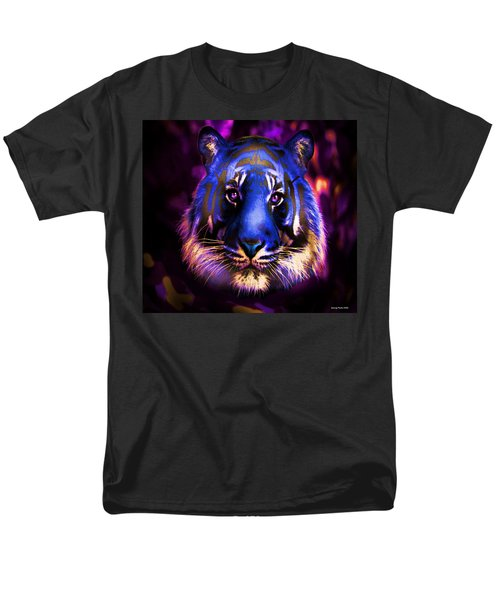 Men's T-Shirt  (Regular Fit) featuring the photograph Blue Tiger Of The Purple Forest by George Pedro