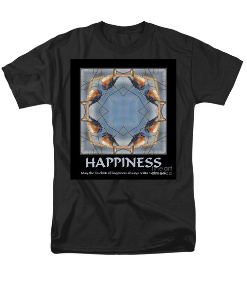 Men's T-Shirt  (Regular Fit) featuring the photograph Bluebird Kaleidoscope Happiness by Smilin Eyes  Treasures