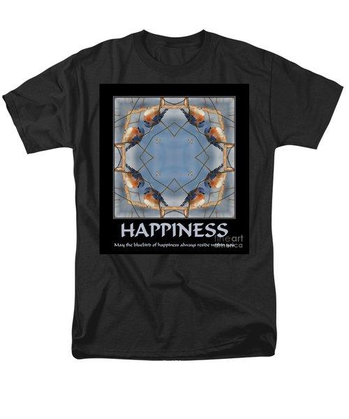 Bluebird Kaleidoscope Happiness Men's T-Shirt  (Regular Fit) by Smilin Eyes  Treasures