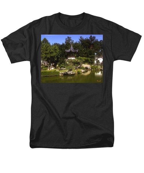 Men's T-Shirt  (Regular Fit) featuring the photograph Bonzai Garden And Gazebo 19l by Gerry Gantt