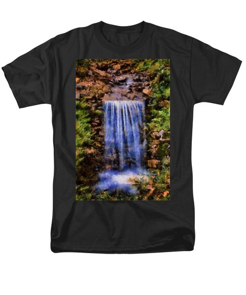 Botanical Garden Falls Men's T-Shirt  (Regular Fit) by Lynne Jenkins