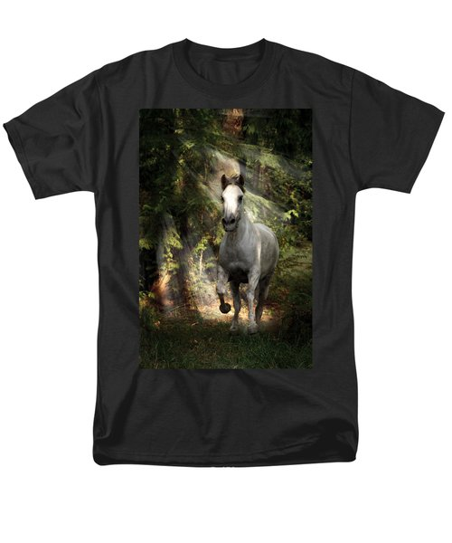 Breaking Dawn Gallop Men's T-Shirt  (Regular Fit) by Wes and Dotty Weber