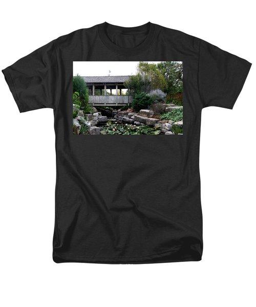 Men's T-Shirt  (Regular Fit) featuring the photograph Bridge Over Water by Elizabeth Winter