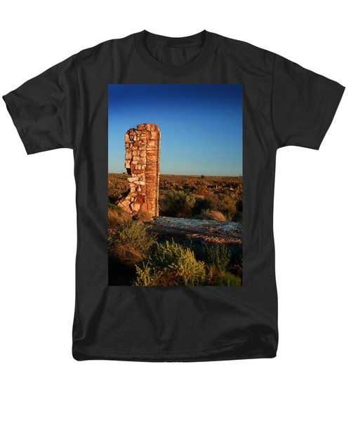 Men's T-Shirt  (Regular Fit) featuring the photograph Broken Glass At Two Guns by Lon Casler Bixby