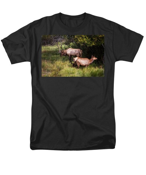Bull Elk 7x7 Men's T-Shirt  (Regular Fit) by Ronald Lutz