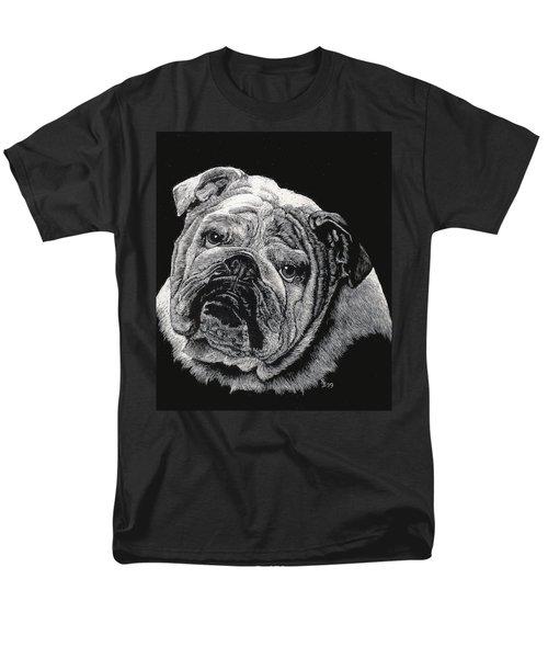 Men's T-Shirt  (Regular Fit) featuring the drawing Bulldog by Rachel Hames