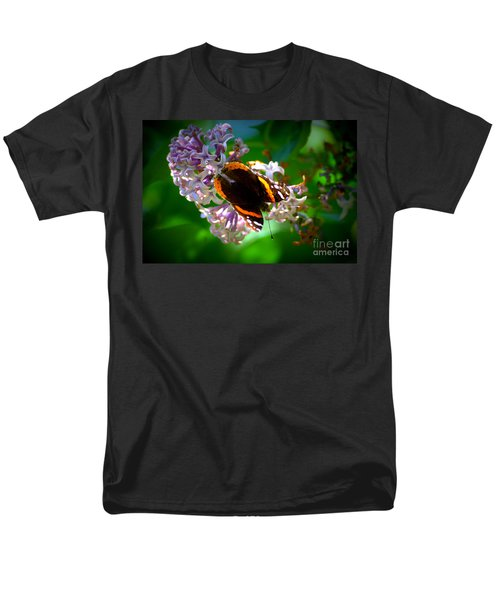 Butterfly On Lilac Men's T-Shirt  (Regular Fit) by Kevin Fortier