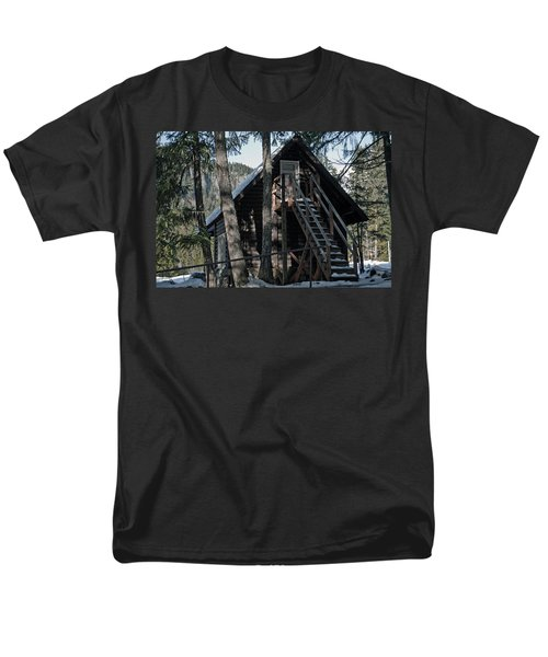 Men's T-Shirt  (Regular Fit) featuring the photograph Cabin Get Away by Tikvah's Hope