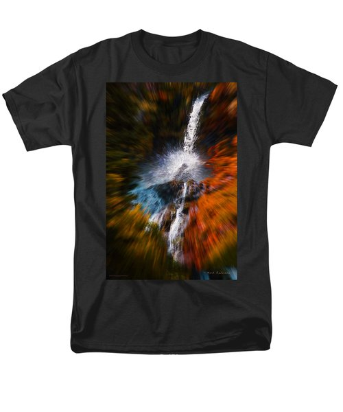 Men's T-Shirt  (Regular Fit) featuring the photograph Cascade Waterfall by Mick Anderson