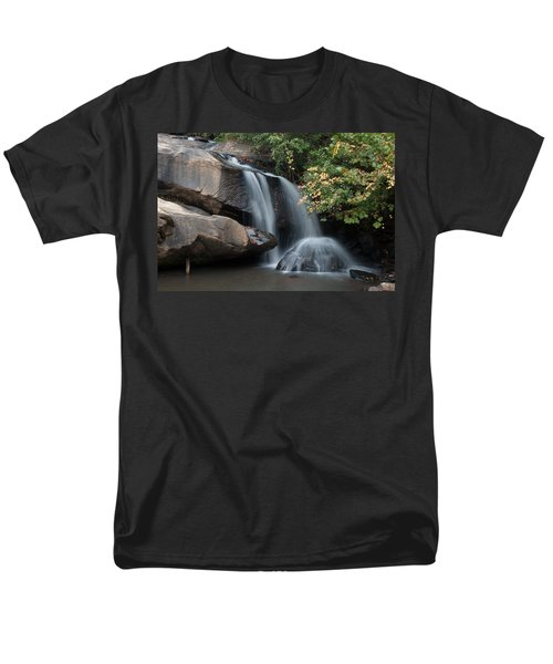 Men's T-Shirt  (Regular Fit) featuring the photograph Chau-ram Falls by Lynne Jenkins