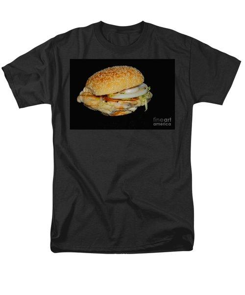 Chicken Sandwich Men's T-Shirt  (Regular Fit) by Cindy Manero