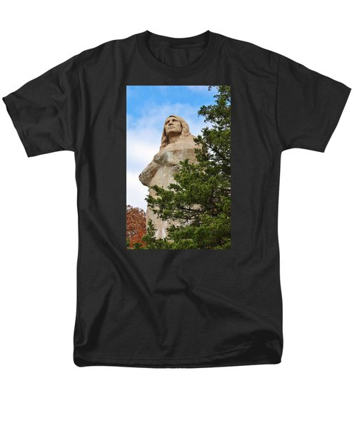 Men's T-Shirt  (Regular Fit) featuring the photograph Chief Blackhawk Statue by Bruce Bley
