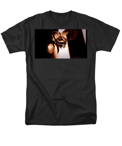 Men's T-Shirt  (Regular Fit) featuring the photograph Chocolate Silk Fuchsia II by Jeanette C Landstrom