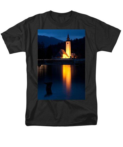 Church At Dusk Men's T-Shirt  (Regular Fit) by Ian Middleton