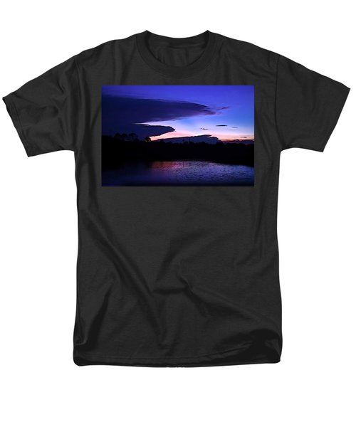 Men's T-Shirt  (Regular Fit) featuring the photograph Clouded Sunset Over The Tomoka by DigiArt Diaries by Vicky B Fuller
