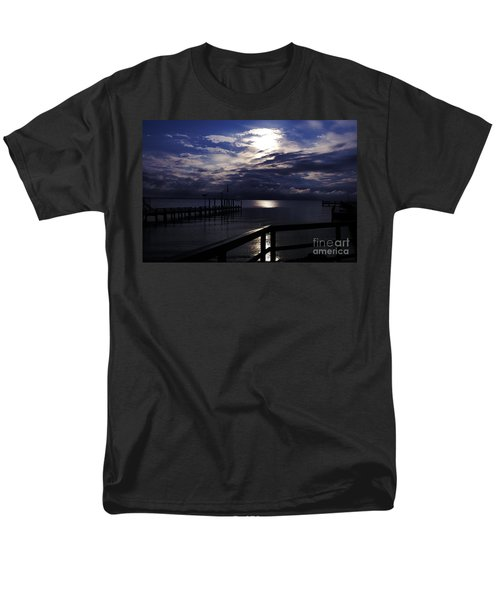 Men's T-Shirt  (Regular Fit) featuring the photograph Cold Night On The Water by Clayton Bruster