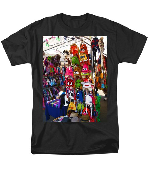 Men's T-Shirt  (Regular Fit) featuring the photograph Colorful Character Hats by Kym Backland