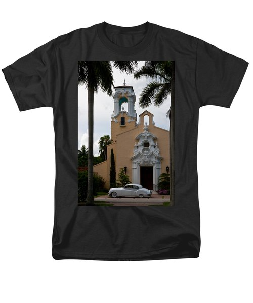 Men's T-Shirt  (Regular Fit) featuring the photograph Congregational Church Front Door by Ed Gleichman