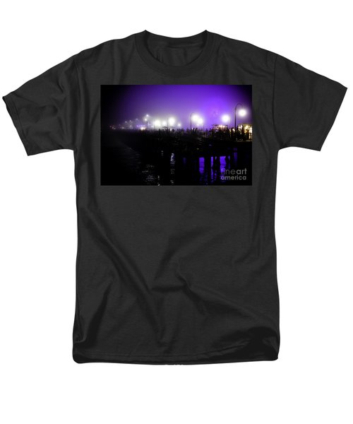 Men's T-Shirt  (Regular Fit) featuring the photograph Cool Night At Santa Monica Pier by Clayton Bruster
