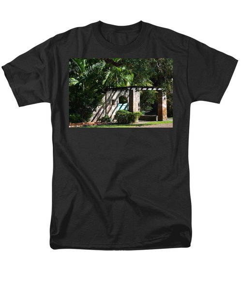 Men's T-Shirt  (Regular Fit) featuring the photograph Coral Gables Gate by Ed Gleichman