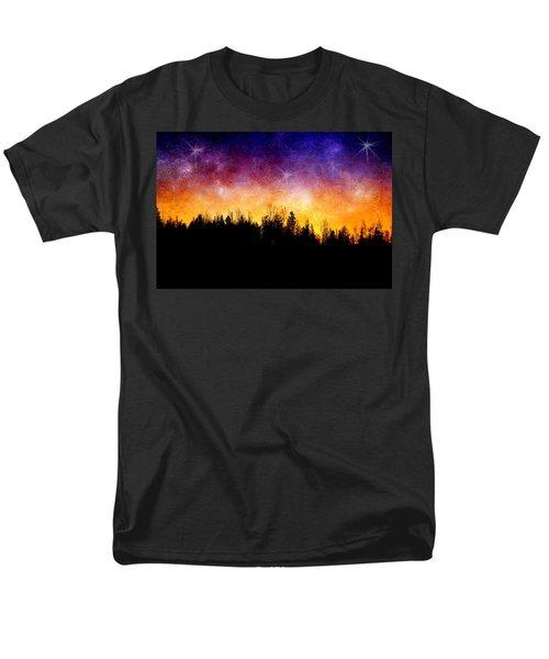 Cosmic Night Men's T-Shirt  (Regular Fit) by Ellen Heaverlo