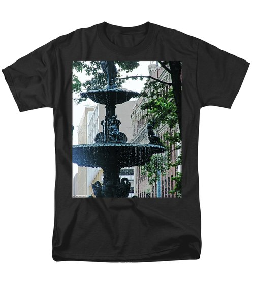 Men's T-Shirt  (Regular Fit) featuring the photograph Court Square Memphis by Lizi Beard-Ward
