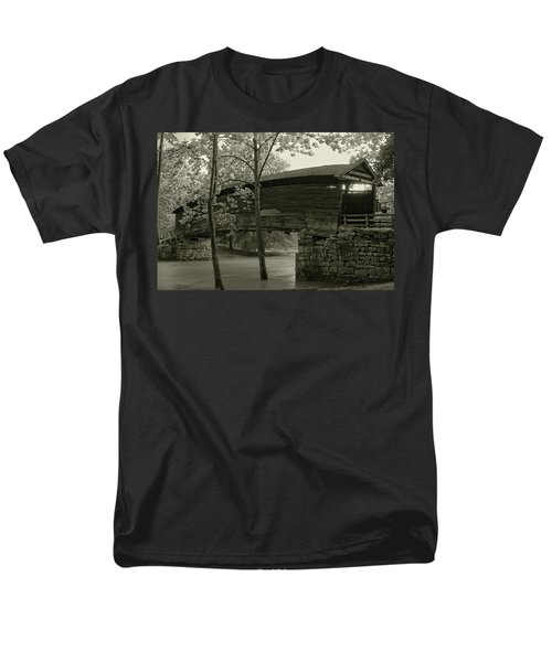 Men's T-Shirt  (Regular Fit) featuring the photograph Covered Bridge by Mary Almond