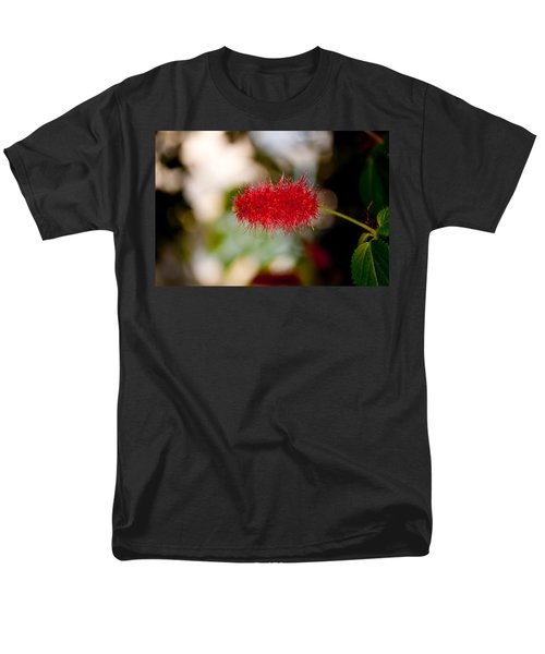 Men's T-Shirt  (Regular Fit) featuring the photograph Crimson Bottle Brush by Tikvah's Hope