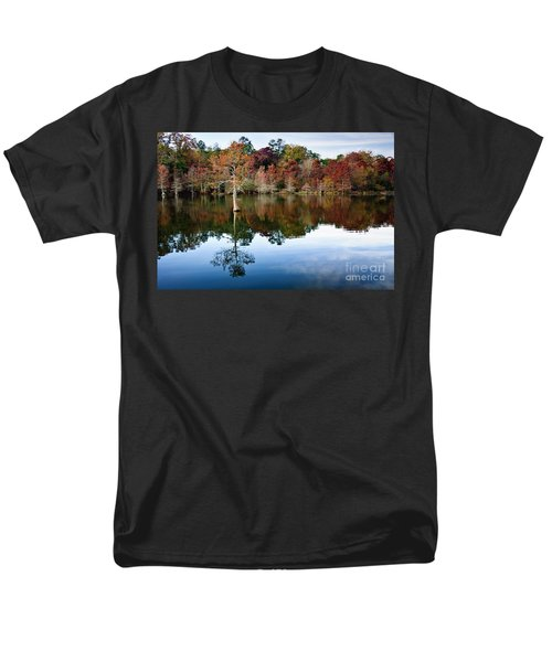 Men's T-Shirt  (Regular Fit) featuring the photograph Beaver's Bend Defiant Cypress by Tamyra Ayles