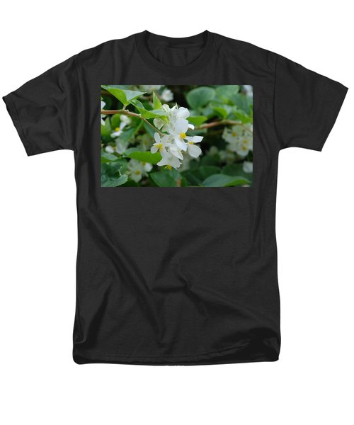 Men's T-Shirt  (Regular Fit) featuring the photograph Delicate White Flower by Jennifer Ancker